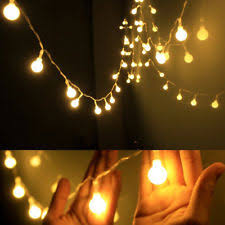 ball fairy lights. led string lights warm white ball fairy waterproof starry home indoor us