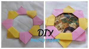 diy how to make origami photo frame tutorial paper craft easy simple