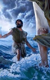 Image result for PETER TRIES TO WALK ON WATER