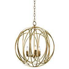 gold leaf chandelier capital lighting