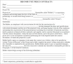 Construction Proposal Template Excel Bid Form Estimate Work And