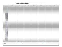 Free Printable Weekly Schedule - Rainbow Download No Longer There ...