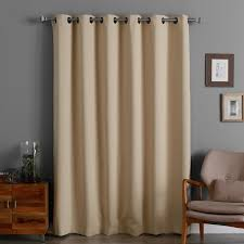brown blackout curtains. Aurora Home 84-inch Wide-width Thermal Blackout Curtain Panel Brown Curtains K