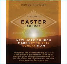 Easter Sunday Flyer Template - Party Flyer Templates For Clubs ...