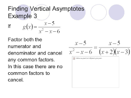 10 finding vertical asymptotes