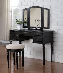 Makeup Tables For Bedrooms Bedroom Makeup Vanities Black Classic Wooden Dressing Table