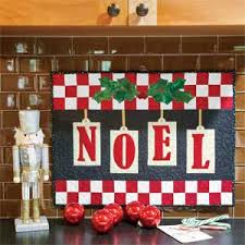 Little Noel: Fast Adorable Christmas Quilted Wall Hanging Pattern ... & Little Noel: Fast Adorable Christmas Quilted Wall Hanging Pattern Adamdwight.com
