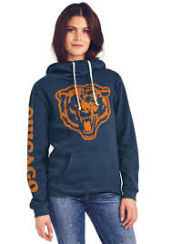 Women's Neck Hooded Chicago Bears Sweatshirt Cowl