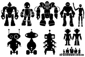 無料の無料ベクトル ロボット シルエットのクリップアートとベクター画像
