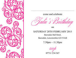 Party Borders For Invitations Details About Personalised Birthday Party Invites Swirl Border Various Colours Pack Of 10