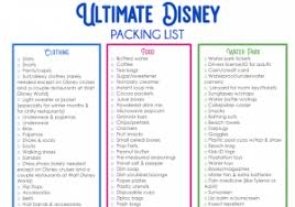 Disney Packing List 15 Things You Are Forgetting To Bring