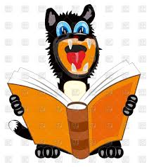 cartoon dog reading book on white background vector image vector artwork of plants and s to zoom