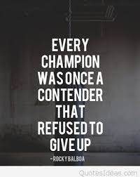 Champion Quotes Impressive Inspirational Champion Quote Rocky Balboa