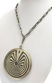 native american silver overlay necklace