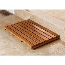 bathroom teak bath mat from sportys preferred living bathroom teak bath mat from sportys preferred