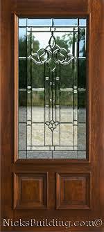 single glass front doors exterior mahogany single doors