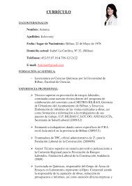 Modelo De Curriculum Vitae Para Ciencias Exactas Curriculum