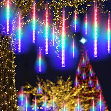 Rèm Đèn Led Chống Nước Giăng Ngang 3M Thả Xuống 8 Ống Đèn Led Sao Băng 50CM  Nhiều Màu Trang Trí Tiệc Ngoài Trời Sân Vườn Noel