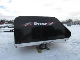2018 triton trailers xt 10 tilt style snowmobile trailer flatbed