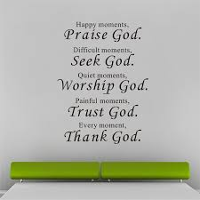 Christian Living Quotes Best of Trust God Bless You Wall Stickers Quotes Christian Living Bedroom