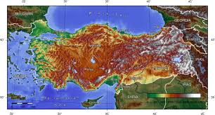 turkey physical features. Perfect Features Topographic Map Of Turkey To Physical Features