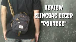Tas eiger 1180 asyncros 35l. Bongkar Review Tas Selempang Slingbag Eiger Original Youtube
