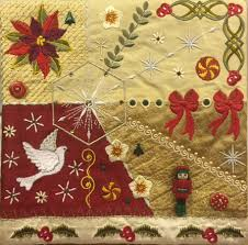 Romantic Crazy quilt for Christmas | graceful threads of inspiration… & This is my Christmas 2014 Crazy Quilt block! Adamdwight.com