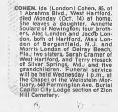 Obituary for Ida COHEN (Aged 85) - Newspapers.com