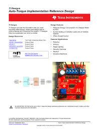 Auto Torque Implementation Reference Design Manualzzcom