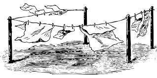 drying clothes clipart black and white. Unique White Clothes Drying Laundry Outdoors Hanging On Drying Clothes Clipart Black And White O