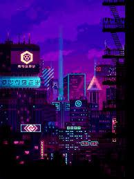 Pixel city, Pixel animation, Pixel art
