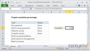 Track Progress In Excel Excel Formula Project Complete Percentage Exceljet