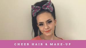 cheer hair makeup tutorial cloe jackson
