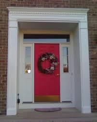 exterior front door trim ideas. front door wood trim ideas exterior accessories minimalist white wooden frame red green wreath window design