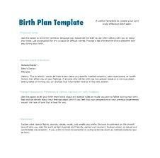 Sample Natural Birth Plan Natural Birth Plan Template Format Sample Example Examples
