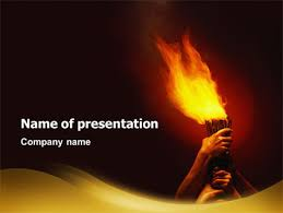 Olympic Flame Presentation Template For Powerpoint And