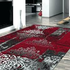 modern red rug red trace grey beige rugs modern rugs modern red area black and red