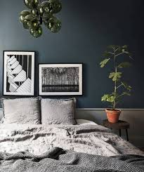 white bedroom with dark furniture. The Dark Furniture On Floors Combined With Grey Walls In Living Room And Petrol Blue Paint Bedroom Make This Place So Cozy White