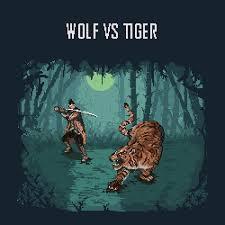 Compare siberian tiger and gray wolf! Wolf Vs Tiger Sekiro Pixelart