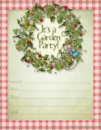 garden party invitations cloveranddot com garden party invitations and get inspired to create your own party invitation design this ideas 20