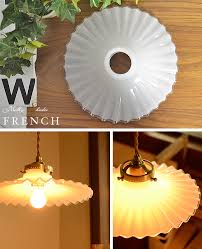 1 light pendant light shade milk socket set frills french glass glass lighting dining pendant lights entrance stairs kitchen natural country antique chic