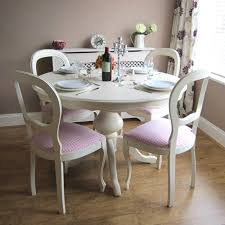 excellent white round dining table for 6 22