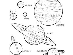 Solar System Coloring Sheets Pages With Color Printable Free Colo