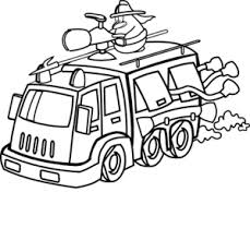 Fire Truck Black And White   Free download best Fire Truck Black And ...
