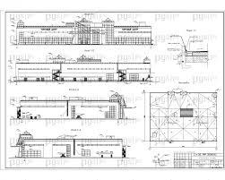 Скачать бесплатно дипломный проект ПГС Диплом № Комплексный  3 Здание торгового центра фасады план кровли jpg