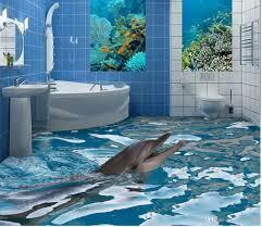 3d Bathroom Tiles New Custom 3d Beautiful 3d Bathroom Floor Tile Wallpaper For