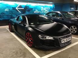 audi r8 matte black and red. audi r8 matte black and red