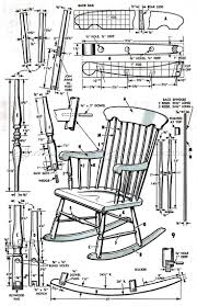 wooden rocking chair plans. #799 boston rocking chair plans - furniture wooden a