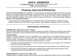 Financial Analyst Resume Financial Analyst Resume Template