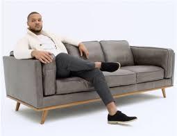 rowan 100 leather 3 seater sofa